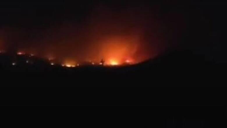 Πυρκαγιά σε εξέλιξη σε δασική έκταση στο Σουφλί Έβρου