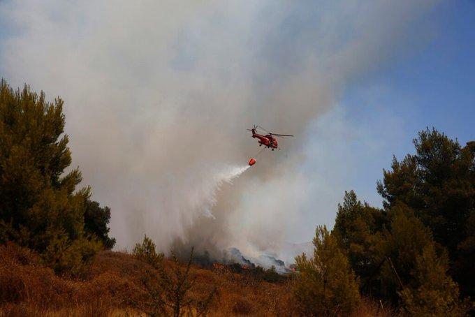 Πυρκαγιά σε αγροτοδασική έκταση στα Λεχαινά Ηλείας
