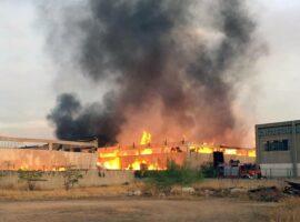 Πυρκαγιά σε εργοστάσιο ξυλείας στον Ασπρόπυργο Αττικής