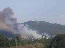 Μεγαλη πυρκαγιά ΤΩΡΑ σε δασική έκταση στα Καλύβια Μεγαλόπολης (Φωτο)