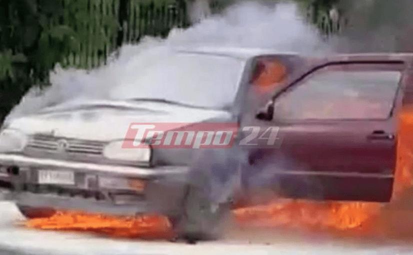 Πυρκαγιά σε ΙΧ αυτοκίνητο εν κινήσει στην Πάτρα