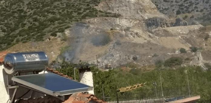Πυρκαγια εν υπαίθρω στην Γεωπονική σχολή Βόλου