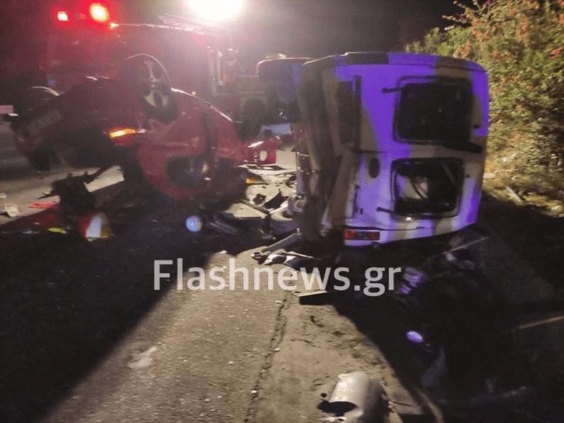 Τρομακτικό τροχαίο στα Χανιά με 2 νεκρούς - Τραυματίστηκε βρέφος