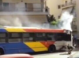Πυρκαγιά σε αστικό λεωφορείο στη Θεσσαλονίκη