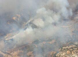 Κύπρος: Μεγάλη πυρκαγιά στην Πάφο