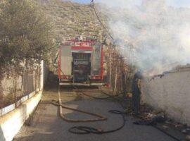 Πυρκαγιά σε βοηθητικό χώρο αποθήκευσης στο Κουρτέσι Ηλείας