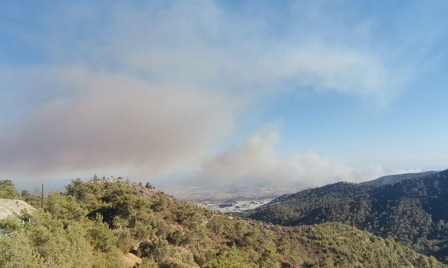 Πυρκαγιά στο Αρμενοχώρι στην Λεμεσό