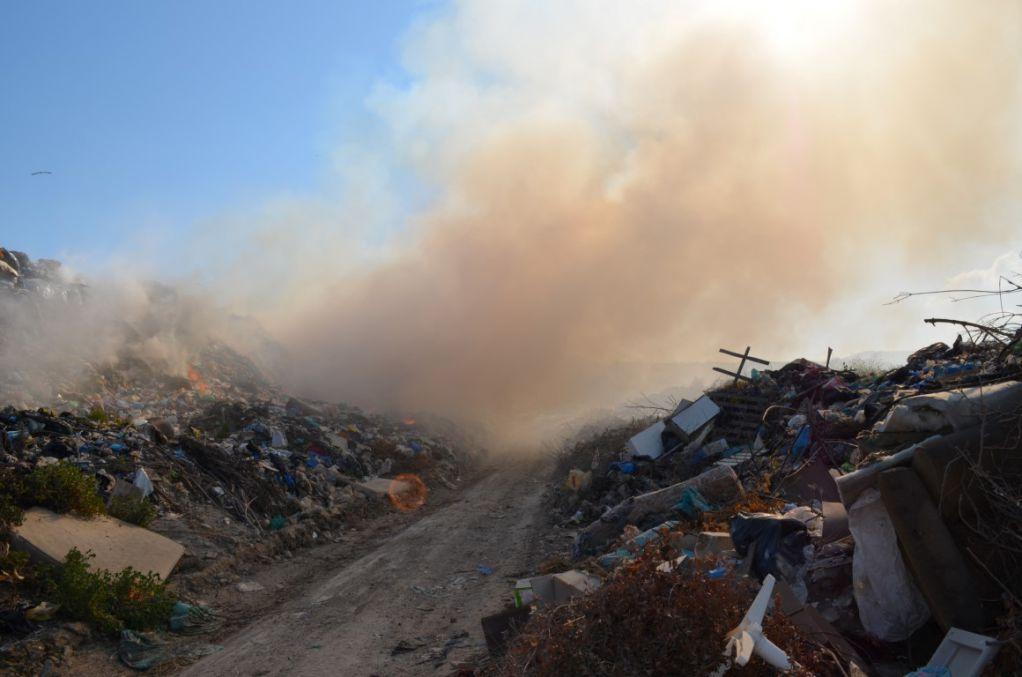Πυρκαγιά σε χωματερή