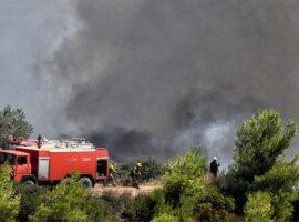 Σε εξέλιξη πυρκαγιά εν υπαίθρω στη Φυλή Αττικής