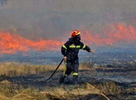 Πυρκαγιά σε υπολείμματα καλλιεργειών στην περιοχή Νεοχωράκι Θηβών