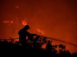 Πυρκαγιά σε εξέλιξη στο Συρμπάνι Βάρδας Ηλείας