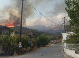 Μαίνεται η πυρκαγιά στη Μάνη – Δεν απειλούνται κατοικίες