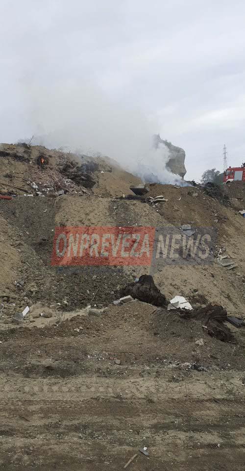 Πυρκαγιά σε χωματερή στον Κούκο Πρέβεζας