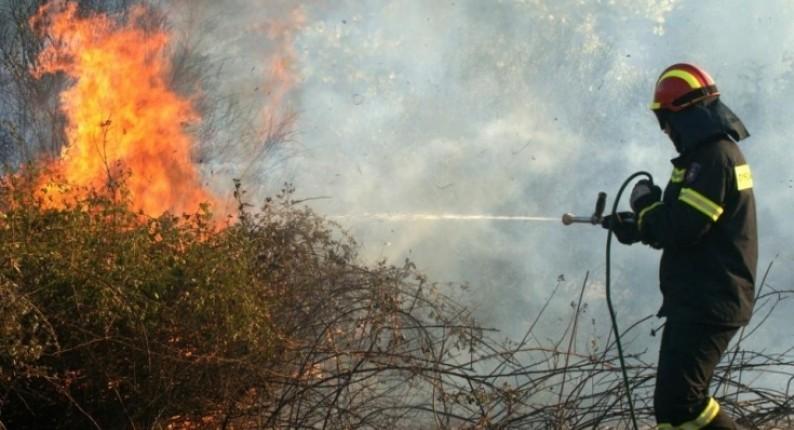 Πυρκαγιά εν υπαίθρω στη Ε.Ο Κορίνθου-Τριπόλεως