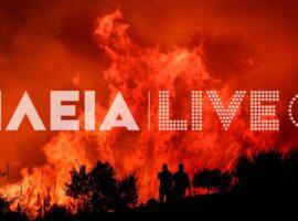 Μεγάλη δασική πυρκαγιά στα Άγναντα Ηλείας