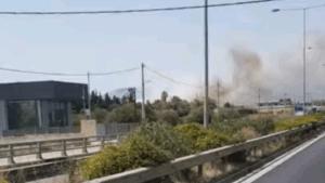 Πυρκαγιά εν υπαίθρω στην Κερατέα Αττικής