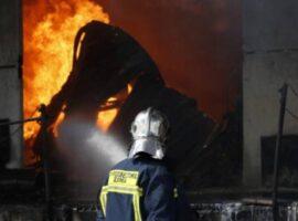 Πυρκαγιά σε κέντρο ανακύκλωσης στο Νέο Σούλι Σερρών