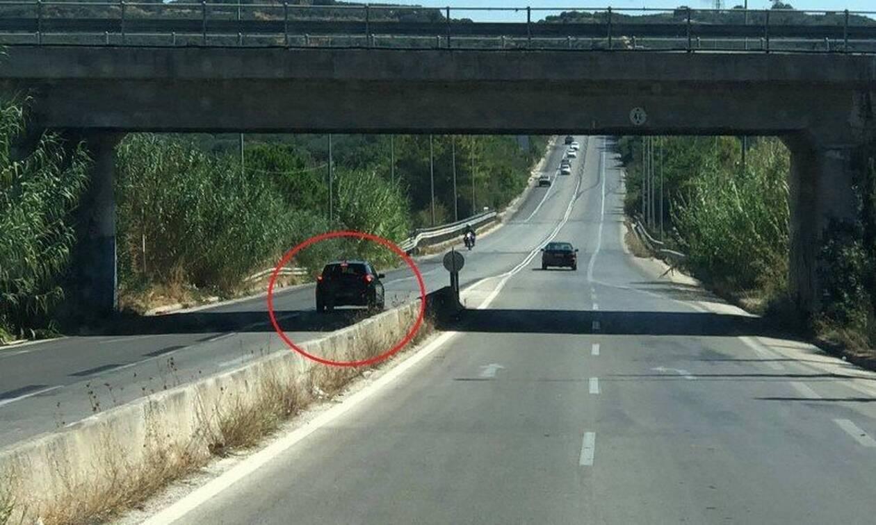 Κρήτη: Απίστευτη εικόνα - Οδηγούσε για ώρα στο αντίθετο ρεύμα