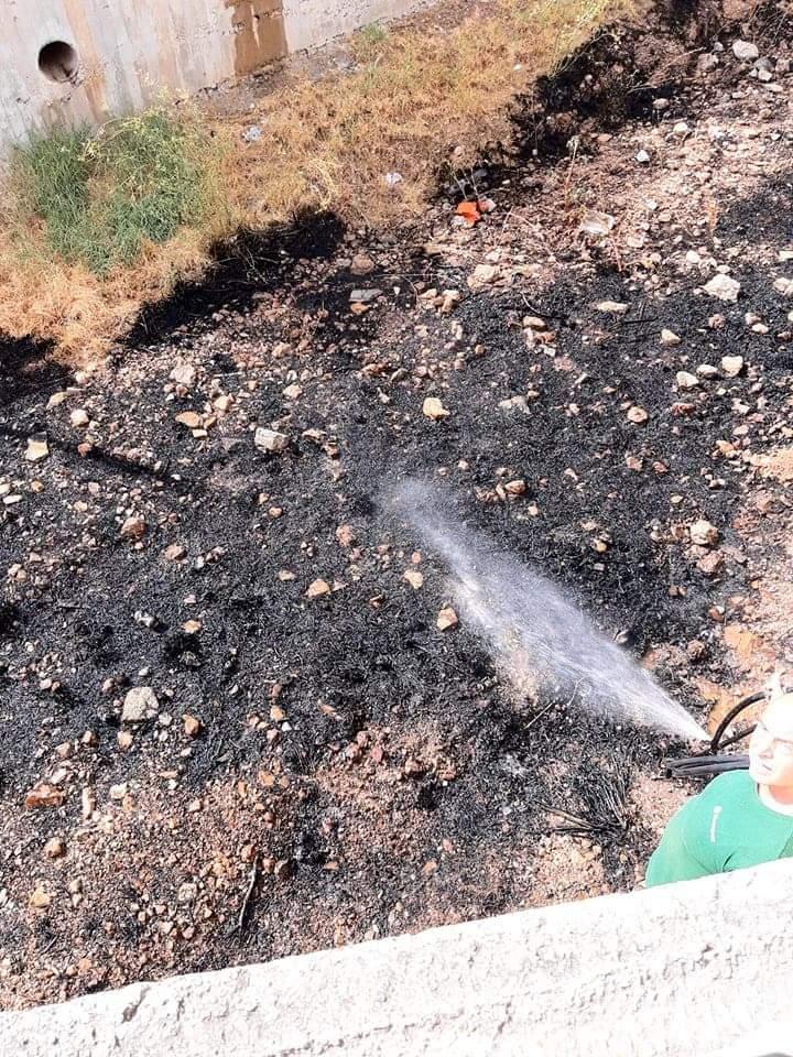Πυρκαγιά εν υπαίθρω στη Βάρη Αττικής (Φωτο)