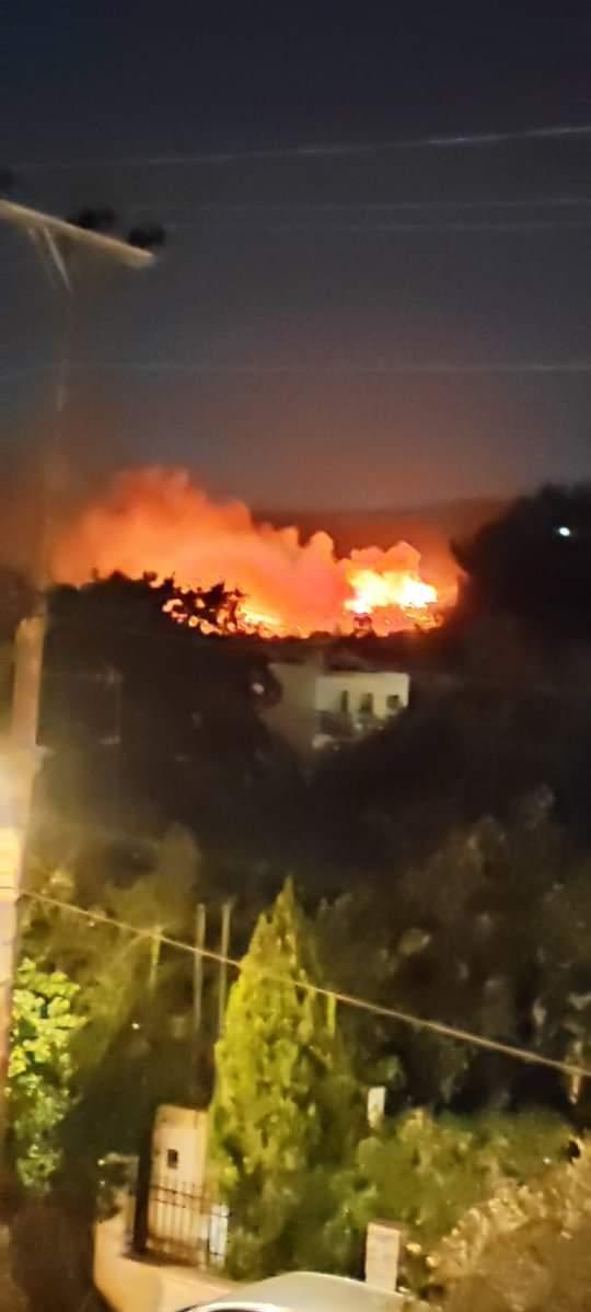 Πυρκαγιά ΤΩΡΑ σε δασική έκταση στη Νέα Μάκρη κοντά σε σπίτια