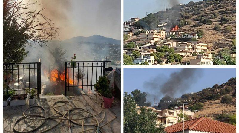 Πυρκαγιά σε διώροφη κατοικία στα Καλύβια Αττικής