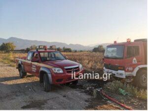 Λαμια-Πυρκαγιά σε χαμηλή βλάστηση στην ανθήλη(φωτό)