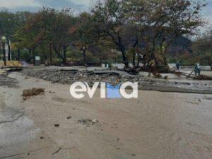 Η κακοκαιρία «Αθηνά» σάρωσε την Βόρεια Εύβοια – Εικόνες βιβλικής καταστροφής