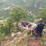 Δύσκολη και επικίνδυνη επιχείρηση για τι διάσωση κατσίκας στα Καλάβρυτα