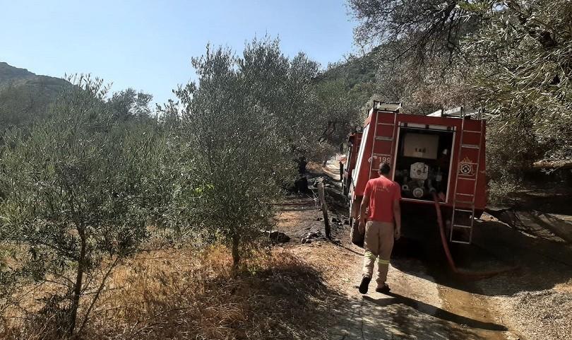 Πυρκαγιά σε γεωργική έκταση στην Κίσαμο Χανίων