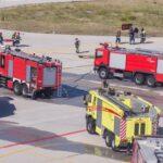 Άσκηση ετοιμότητας στον Αερολιμένα Μυτιλήνης απο το Πυροσβεστικό Σώμα (Φωτο)