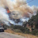 Δύο πυρκαγιές σε εξέλιξη στις περιοχές Αγ.Γαλήνη & Αγ.Βαρβάρας στην Κρήτη