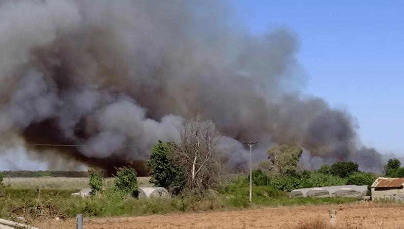 Μεγαλη πυρκαγιά στο Βουπράσιο Αχαΐας - Συναγερμός στην Πυροσβεστική