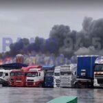 Μεγάλη πυρκαγιά σε αποθήκη τροφίμων στα Διαβατά Θεσσαλονίκης