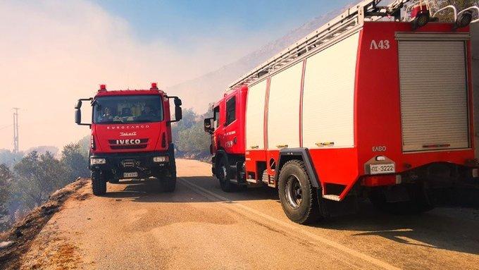 Δασική πυρκαγιά στην περιοχή Αγία Παρασκευή Αχαΐας
