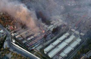 Πυρκαγιά στο ΚΥΤ του Μαυροβουνίου στην Λέσβο