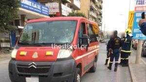 Θεσσαλονίκη: Παράσυρση πεζού από όχημα της Πυροσβεστικής στη Μοναστηρίου (φωτο)