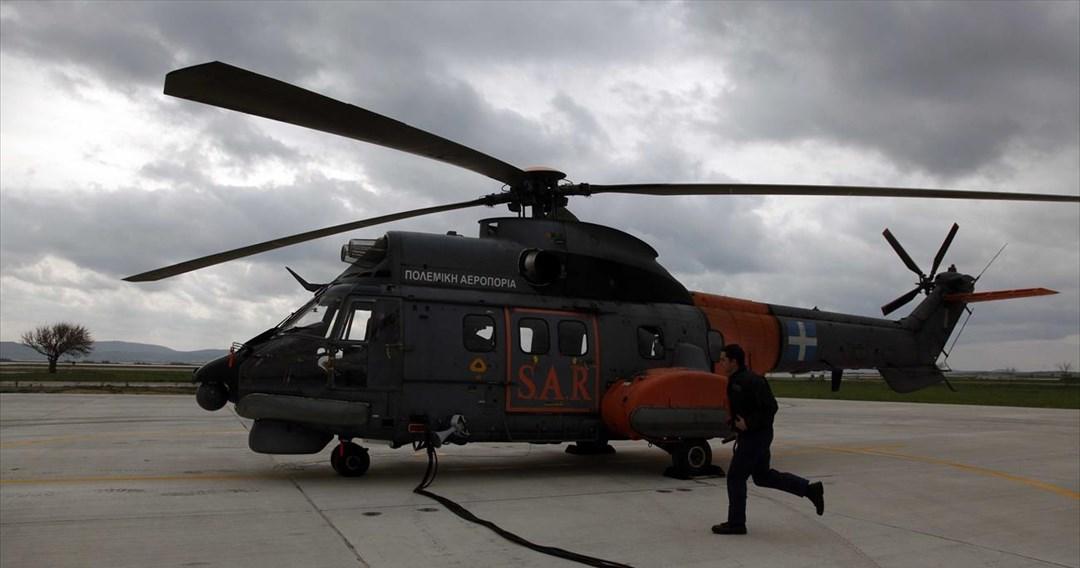 Κακοκαιρία: Super Puma σπεύδει στην Κέρκυρα για απεγκλωβισμό πολιτών
