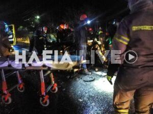 Πατρών - Πύργου: Σφοδρή μετωπική με τρεις τραυματίες στη Ν. Μανωλάδα.(φωτό-βίντεο)